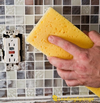 tile and grout cleaning sponge